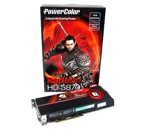 PowerColor has ditched the warrior girl for a fresh look on their packaging with the new Radeon HD 5870.