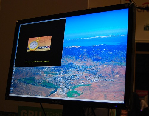 Here's a localized rendering demo shown by Cubix on their solution. On discussion with them, they mentioned that operational distances can go up to 2 kilometers or more and yet maintain performance as though the solution is located locally. Best part is that there's no video compression involved and it maintains output pixel-for-pixel.