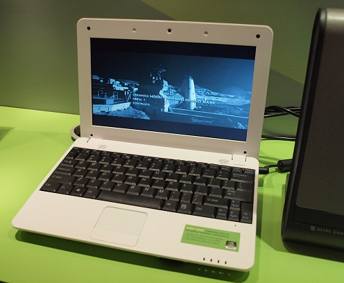 Here's Inventec Appliances Corp's mini-notebook using NVIDIA's Tegra too - the Rainbow.