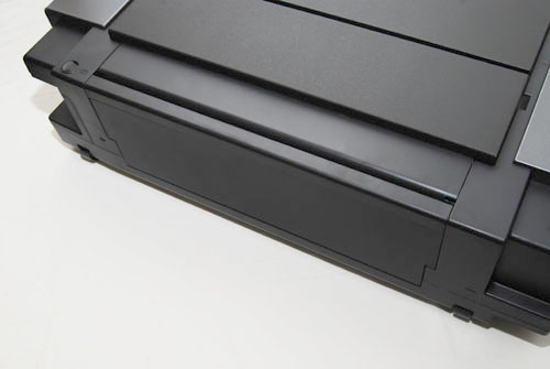 The closed back of the Pro9500 Mark II when the A3 printing tray is not in use.