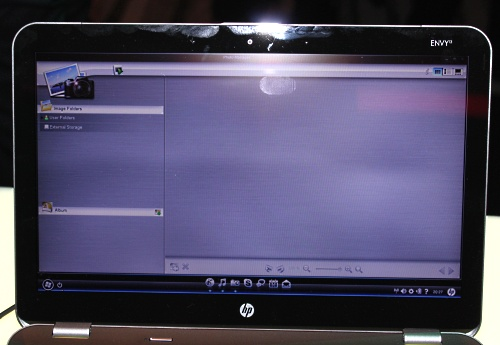 HP's custom Linux based interface, QuickWeb.