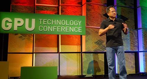 And there he is, NVDIA CEO Jen-Hsun Huang and his opening speech on the only technology conference dedicated to the advancement of GPU technology and also the only developers' conference for programming of GPUs.
