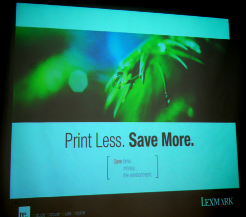 Lexmark's new printers are here to help corporations save money and time, as well as the environment.