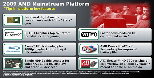 Features of the AMD Tigris platform at a glance.