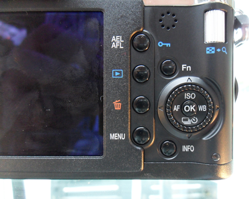 Nothing much has changed on the E-P2, including the navigation panel as seen here.