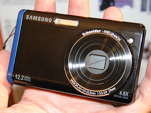 The Samsung ST500 digital compact camera.