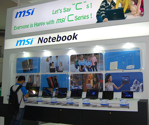 Signaling perhaps a renewed focus on consumer products, MSI's notebook selections at its Computex booth were also greatly increased from previous years.