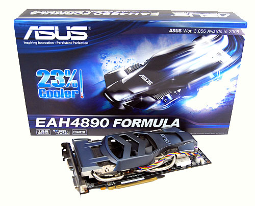 As you can see, the Asus EAH4890 Formula does look as radical as the box art suggests. The packaging also loudly and proudly proclaims that the card is up to 23% cooler. We shall see.