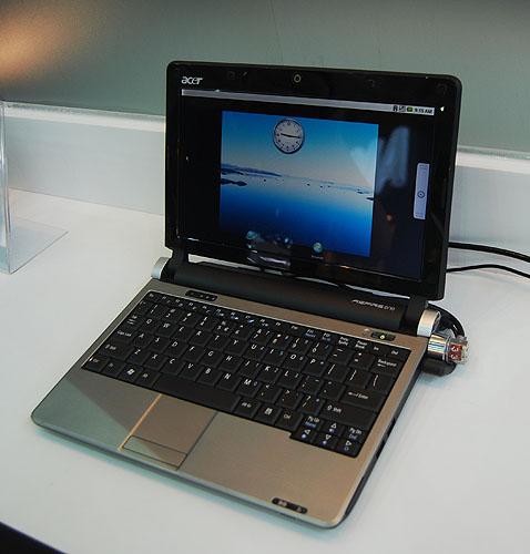Acer was also showing off the first Google Android netbook at Computex and we're looking forward to seeing how Acer can adapt this operating system and user interface to the slightly different usage patterns for a netbook.