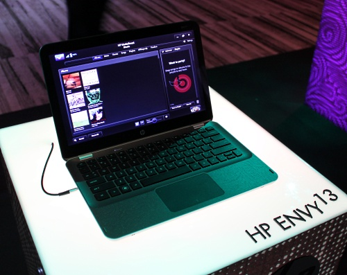 Another angle of the HP ENVY 13.