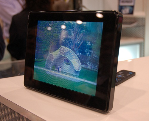 Even though the Fujifilm camera can take pictures in 3D, you can't display them easily on your typical PC monitor. Instead, special equipment like this 3D capable photo frame is required, limiting the adoption of such cameras.