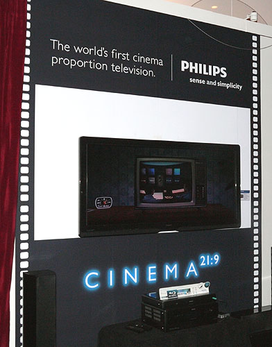 An anamorphic TV? Believe your eyes, for it's really here. Meet the new Philips Cinema 21:9.