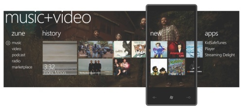 Music+Video hub - a chip off the Zune HD interface and concept.
