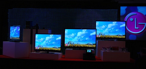 This is just a small sample of new TVs of the total 41 models that LG has in store for rollout at the moment in 2010.