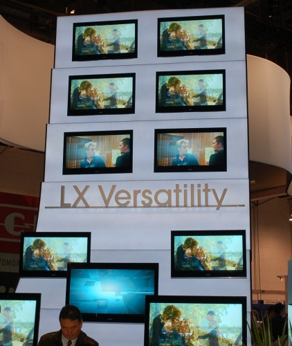 The versatility here for the LX series is to reflect its 3D capability along with having basically all the features of a Monolithic Design Sony BRAVIA, from Motionflow to integrated Wi-Fi and USB/DLNA playback. The 60-inch model XBR-60LX900 is also the first TV from Sony to have an integrated full HD 3D functionality, including two pairs of active shuttle glass. All this is available only this summer.
