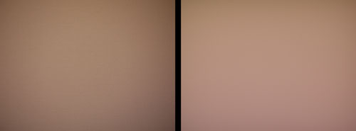 Taken with the 20mm f1.7 pancake kit lens (left) and without a lens (right). Click for full resolution image (very large).