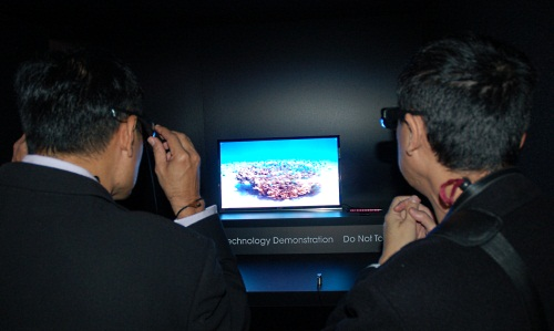 OLED technology has been bandied around for the longest time but cost has been a major stumbling block. So while 3D appears trivial to implement on OLED screens as seen in this Sony tech demo, don't count on it actually coming to homes for a long while yet.