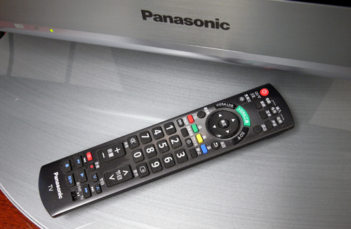 Panasonic is deploying a similar remote wand across their PDP offerings. The stick is well labeled (aside from the confounding Chinese characters) and responsive, however, there's still no sign of any active input selections. You'll need to scroll through a list of AV devices to select your input of choice manually.
