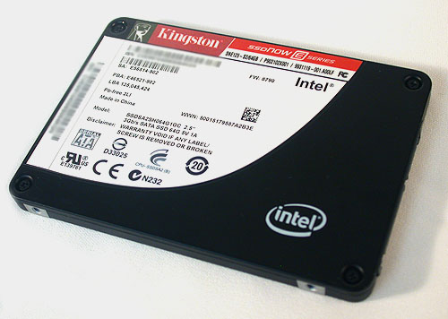Kingston is one of the few vendors that offers 'rebranded' Intel SSD drives, though the Intel logo is still prominently displayed. This is the E series, E for Enterprise and it uses SLC NAND flash.