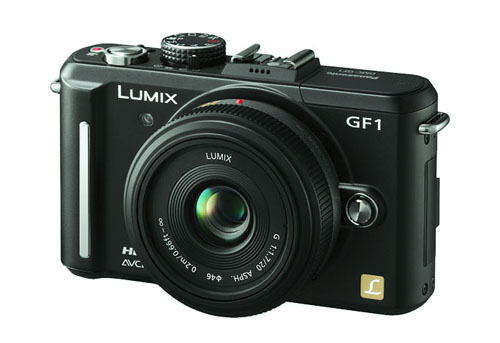 The Panasonic Lumix DMC-GF1 - the third iteration of the company's Micro Four Thirds line-up.