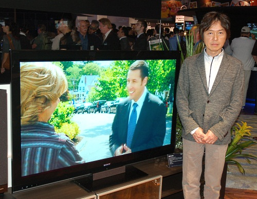Sony's Creative Center Chief Art Director for the Home Products Design Group, Fumiya Matsuoka, is the last word on what goes into the design of Sony's BRAVIA TVs and home theater products. At the moment, the Monolithic Design is Sony's theme for the new BRAVIAs.