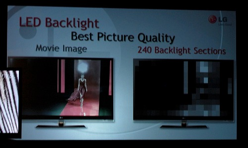 As mentioned, the Full LED Slim technology supports local dimming up to 240 segments for a 55-inch TV size.