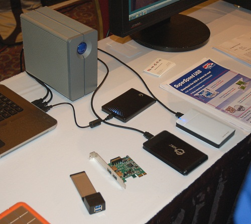 Some of the USB 3.0 certified devices include Western Digital MyBook external drives. However, a sign that getting the masses to buy these upgraded standards is not that easy - we spotted the SD card association pushing its SDXC format at CES Unveiled, something that was announced early last year.