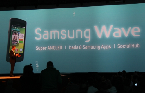 The highlight of the event was of course the Samsung Wave. Key features include the Super AMOLED screen, bada & Samsung Apps and Social Hub.