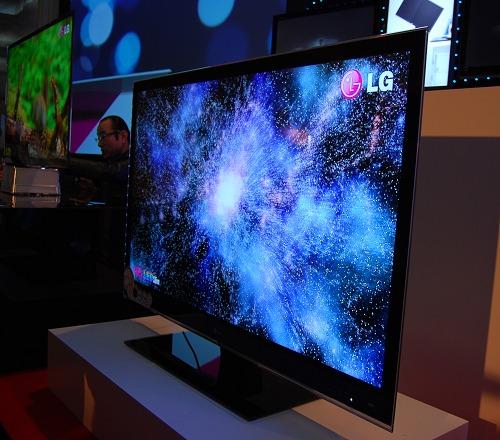 The LG LE9500 HDTV sporting the new Full LED Slim technology.