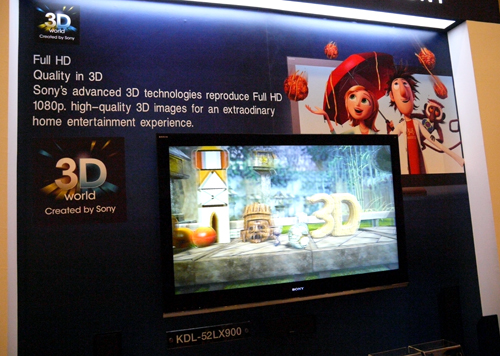 Spurred by the recent rapid expansion of 3D movies, Sony is undoubtedly eager to bring 3D displays to the home entertainment scene. To be launched sometime in the latter half of 2010, the BRAVIA LX900 series will come with value-added features such as Wi-Fi capabilities and energy-saving options on top of its 3D sweetener.