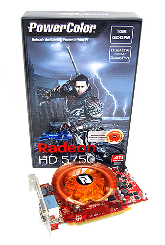 Our Radeon HD 5750 comes courtesy of PowerColor. This is the PowerColor PCS HD 5750 Premium Edition, which comes with a custom cooler from cooling specialists ZEROtherm and also a redeemable copy of Dirt 2.