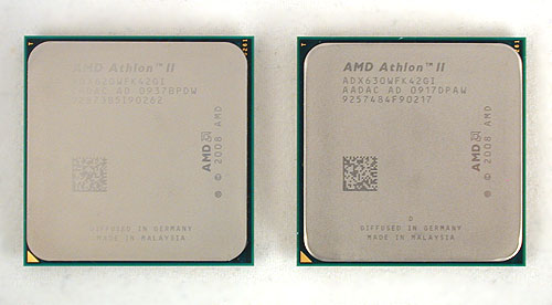 The AMD Athlon II X4 630 and 620.
