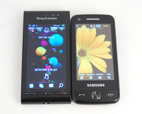 Sony Ericsson Satio and Samsung Pixon12.