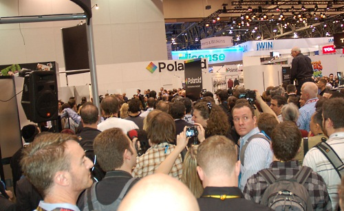 When we arrived, we were initially surprised at the huge crowd gathering at the Polaroid booth.