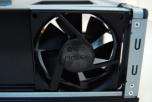 The Antec ISK300-65 uses Antec's very own 80mm TriCool fan. It has a 3-speed selector and it is very quiet at its lowest speed setting.