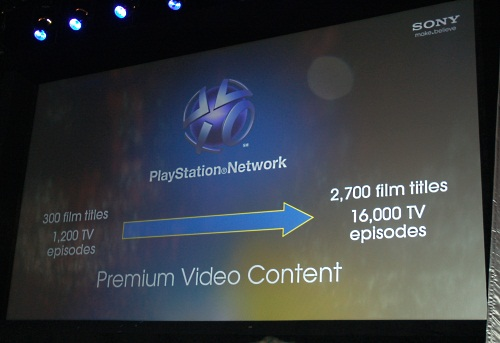 The PSN has grown quite a bit since its inception. Not only will it include more premium video content , it will be expanding its reach to internet capable BRAVIA TVs and Blu-ray players and even VAIO notebooks. It will also launch in more European countries.