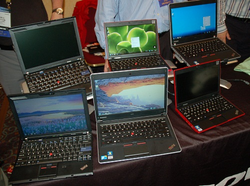 We have played with some of these new Lenovo Thinkpad offerings, like the X100e in the office and even done a preview. Not surprisingly though, Lenovo had the whole lineup at CES.