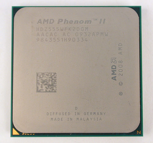 The Phenom II X2 555 'Black Edition' runs at 3.2GHz at default, the fastest among AMD's current dual-core processors.