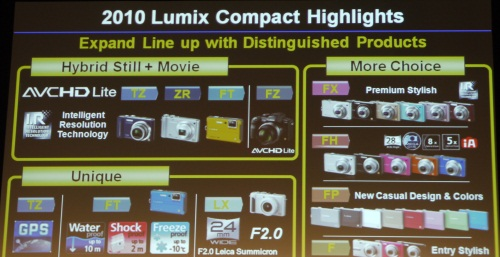 During the presentation, we noticed the LX series being listed as a category that'll be expanded in 2010, hinting of a possible upgrade to the LX series.