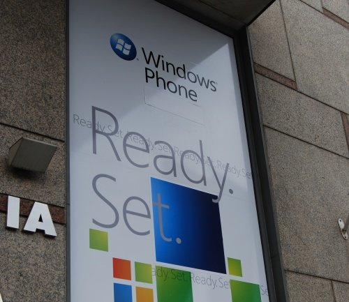 Ready. Set. For Windows Phone 7 Series, having it ready and setting it out for the masses might be a while more.