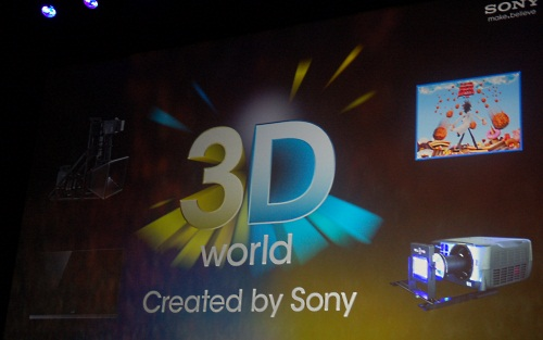 It's a mad, mad, 3D world! Sony's conglomerate status means it's involved in every stage of the 3D lifecycle, from producing the 3D movies, both literally and thru its studios, to bringing it to your homes via the TVs and Blu-ray.