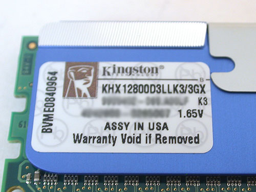 The memory timings for this Kingston module is in fact at 8-8-8-24 and are better than the 9-9-9-27 for the dual-channel kit. Voltage too is lowered to 1.65V.