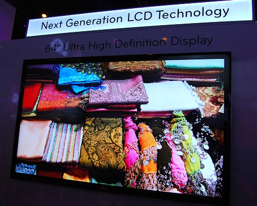Looking for the next generation in screen size and resolution? LG has on display an 84-inch LCD display supporting ultra high definition resolutions.