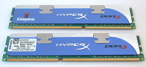 Kingston's HyperX series of memory modules, with this dual-channel kit rated at 1600MHz.