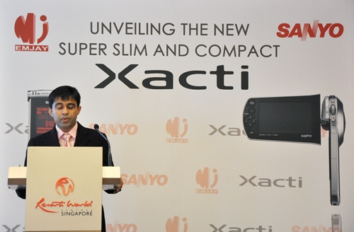 Last but not least, Mr Vishinu Metharam, Director of Emjay Enterprises Pte Ltd and Emjay Enterprises Sdn Bhd, both of which will be sole distributors for the Xacti series, spoke about their marketing strategy and sales distribution for the products.