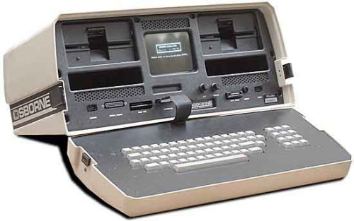 "The Osborne 1, the first commercially available portable computer was fondly classified as a ""luggable""."