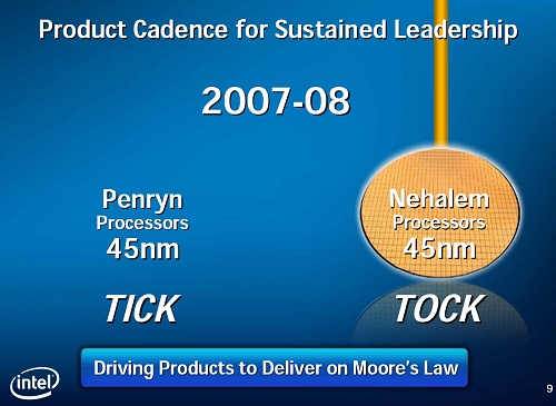 Nehalem will enter production in late 2008, but we don't expect OEM availability till 2009; unless Intel notches up their gears.
