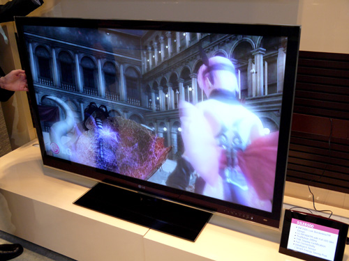 The 55-inch LE8500 reminds us a whole lot of the current SL90 stalwart. If a 3D display isn't your cup of tea, LG is presenting the LE8500 series as a premium model just under the flagship LX9500. Expect DivX HD support, Real Cinema 24p conversion and DLNA features with this one.