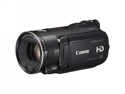 The Canon flagship LEGRIA HF S10 with built-in 32GB memory.
