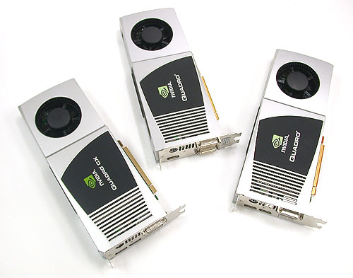 These are some of the most expensive graphics cards ever to make it to our lab, costing at least US$1999 for the Quadro FX 4800 and Quadro CX. The top model, the FX 5800 is at a whopping US$3499.